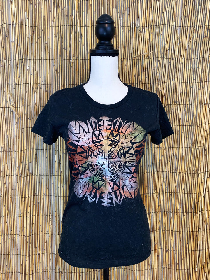 Mandala Hand Painted Women's Organic Fitted Tee