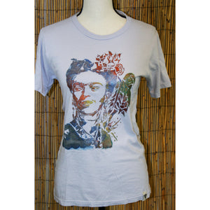 Frida Kahlo Hand Painted Bamboo Crew Neck Tee