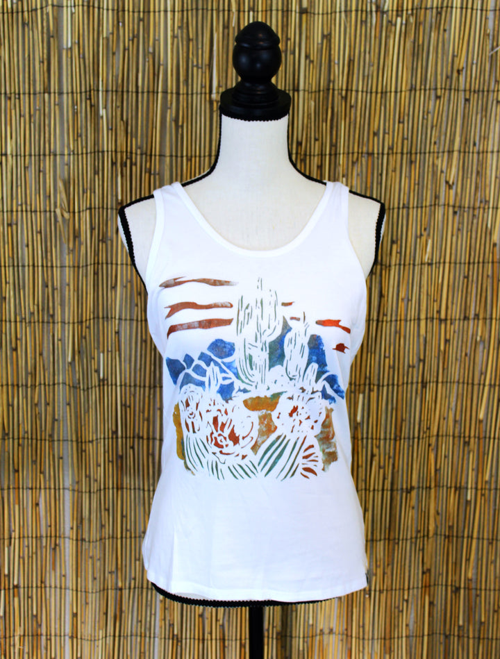 Desert Scape Hand Painted Women's Yoga Tank