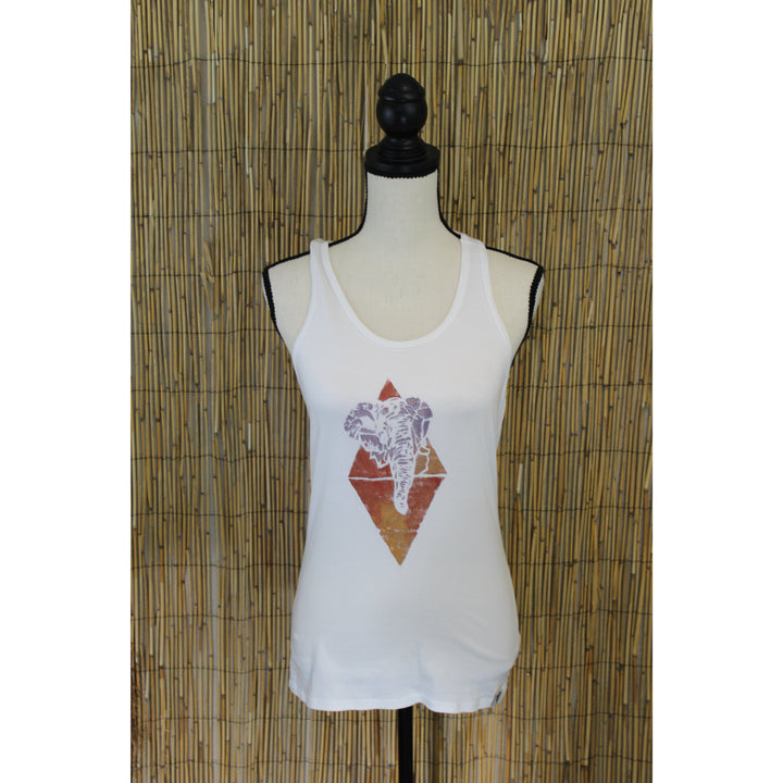 Tri Elephant Hand Painted Women's Yoga Tank