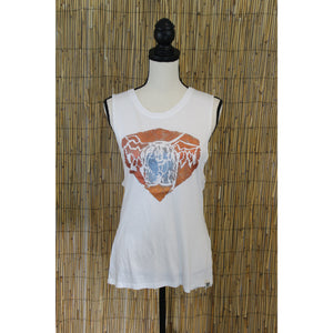 Grizzly Bear Hand Painted Women's Muscle Tank