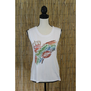 Rainbow Heart Hand Painted Women's Muscle Tank