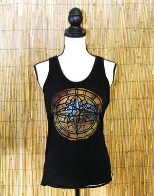 Compass Hand Painted Women's Yoga Tank
