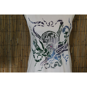 Octopus Hand Painted Women's Muscle Tank