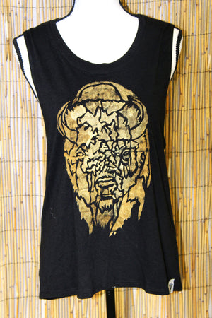 Buffalo Hand Painted Women's Muscle Tank