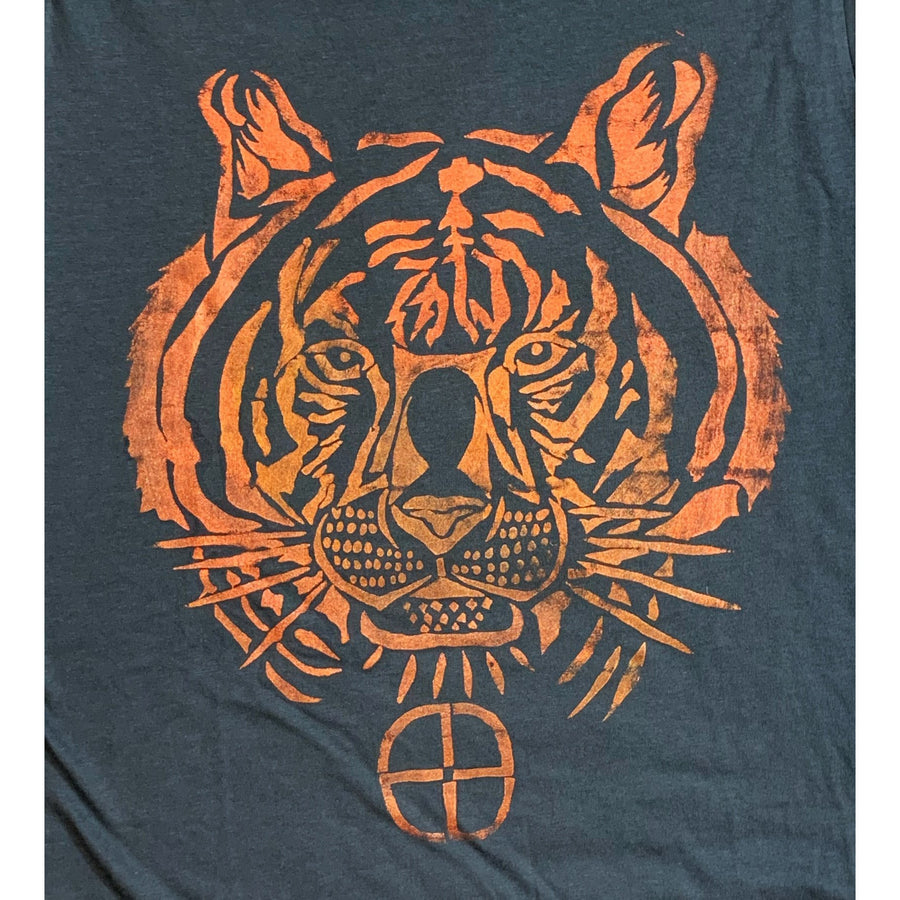 Tiger Hand Painted Bamboo Crew Neck Tee
