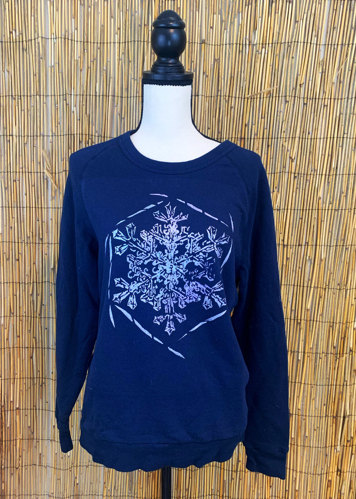 Snowflake Hand Painted Raglan Sweatshirt *LIMITED EDITION*