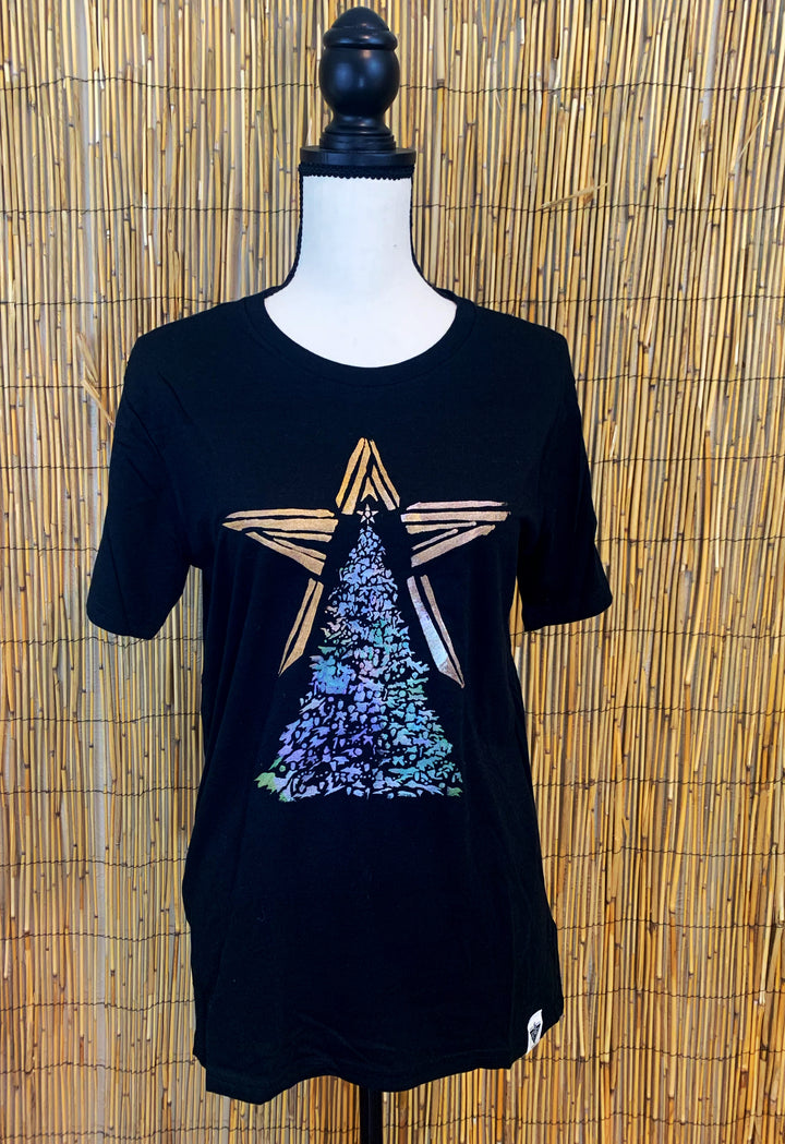 Christmas Tree Hand Painted Bamboo Crew Neck Tee *LIMITED EDITION*