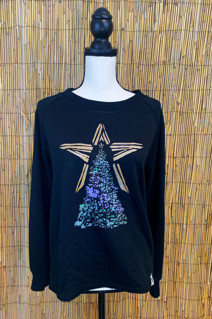 Christmas Tree Hand Painted Women's Sweatshirt *LIMITED EDITION*