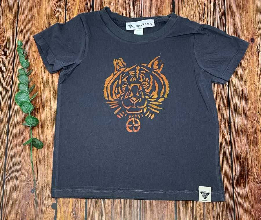 Tiger Hand Painted Organic Toddler Tees