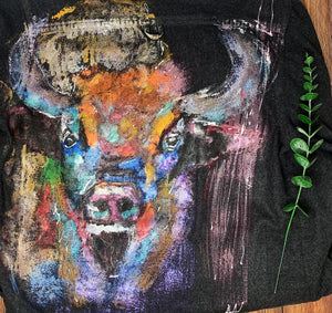 Buffalo Hand Painted 1of1 Original Flannel Shirt