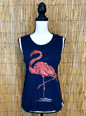 Flamingo Hand Painted Women's Muscle Tank