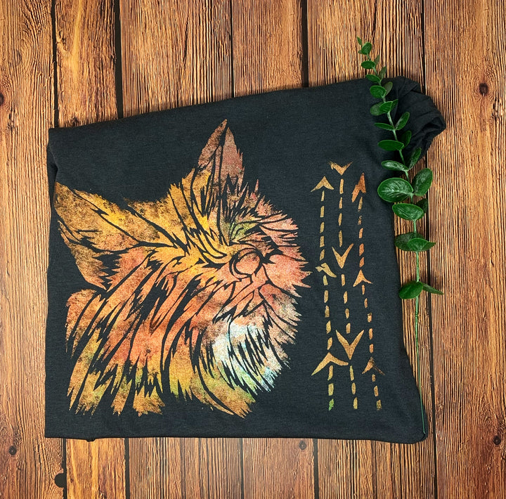 Fox Hand Painted Women's Bamboo Fitted Tee