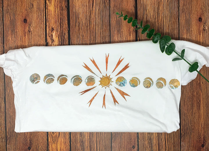 Solar Eclipse Hand Painted Women's Bamboo Fitted Tee