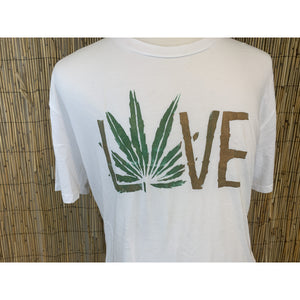 Weed Love Hand Painted Bamboo Crew Neck Tee