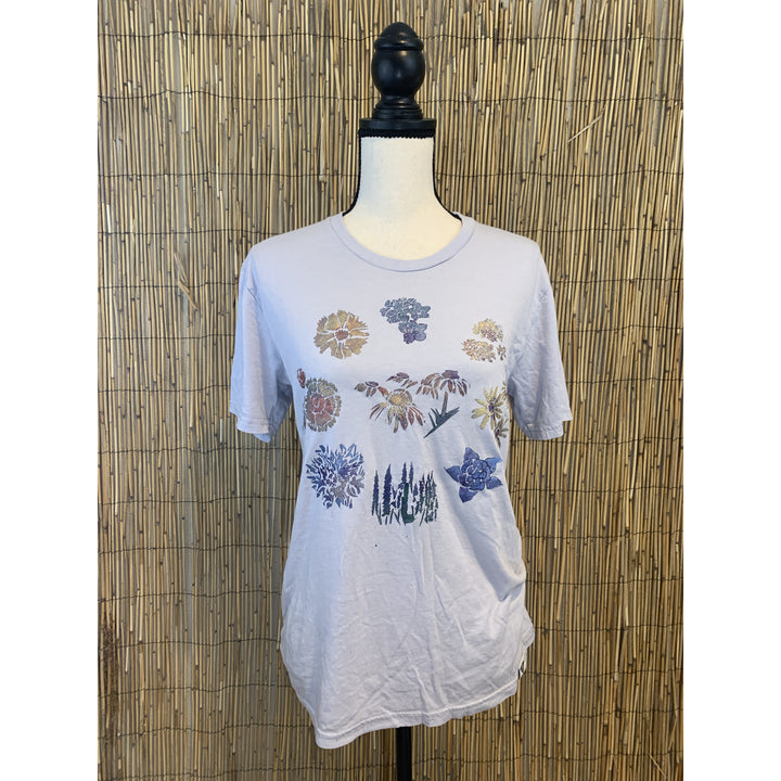 Wildflowers Hand Painted Bamboo Crew Neck Tee