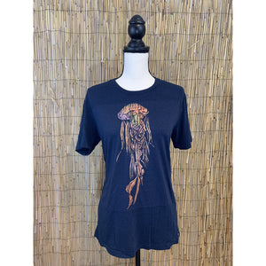 Jellyfish Hand Painted Bamboo Crew Neck Tee