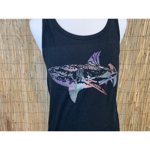 Shark Hand Painted Bamboo Men's Tank