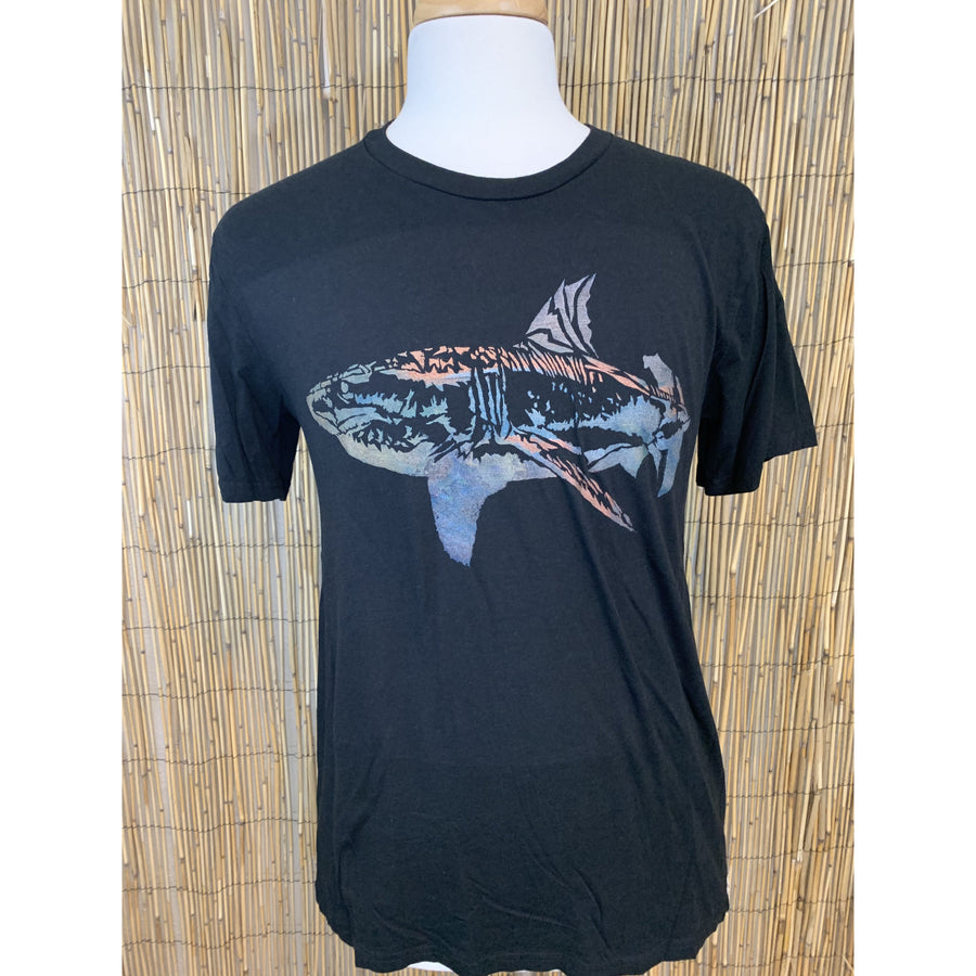 Shark Hand Painted Bamboo Crew Neck Tee