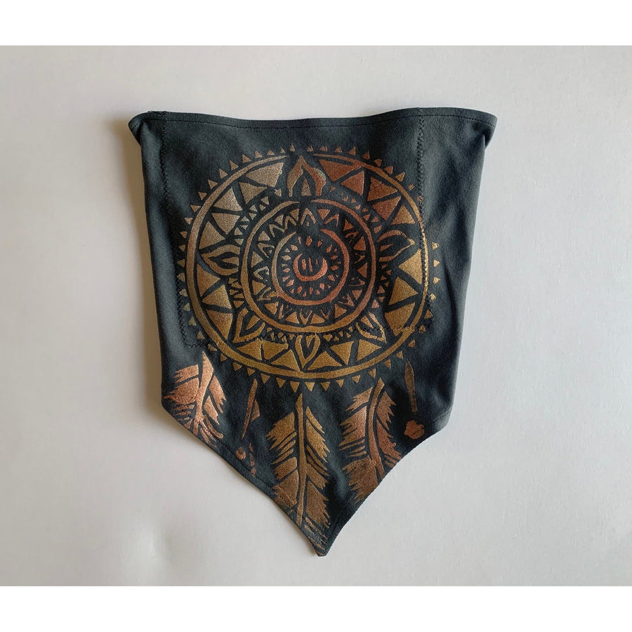 Dream Catcher Hand Painted Bamboo Bandana w/ Liner