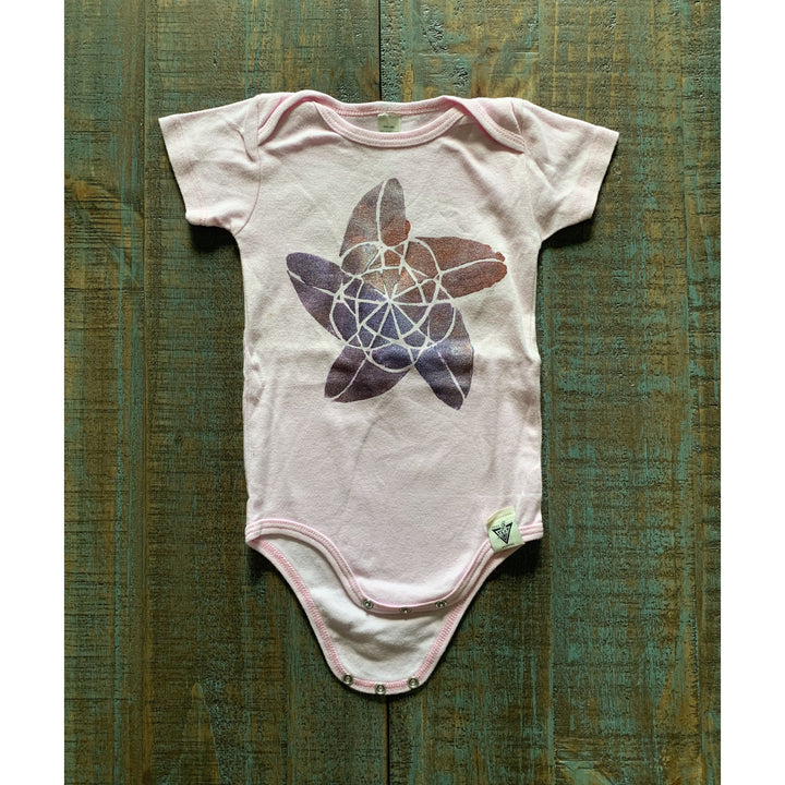 Sound Wave Hand Painted Organic Baby Onesie