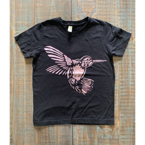 Hummingbird Hand Painted Organic Youth Tees