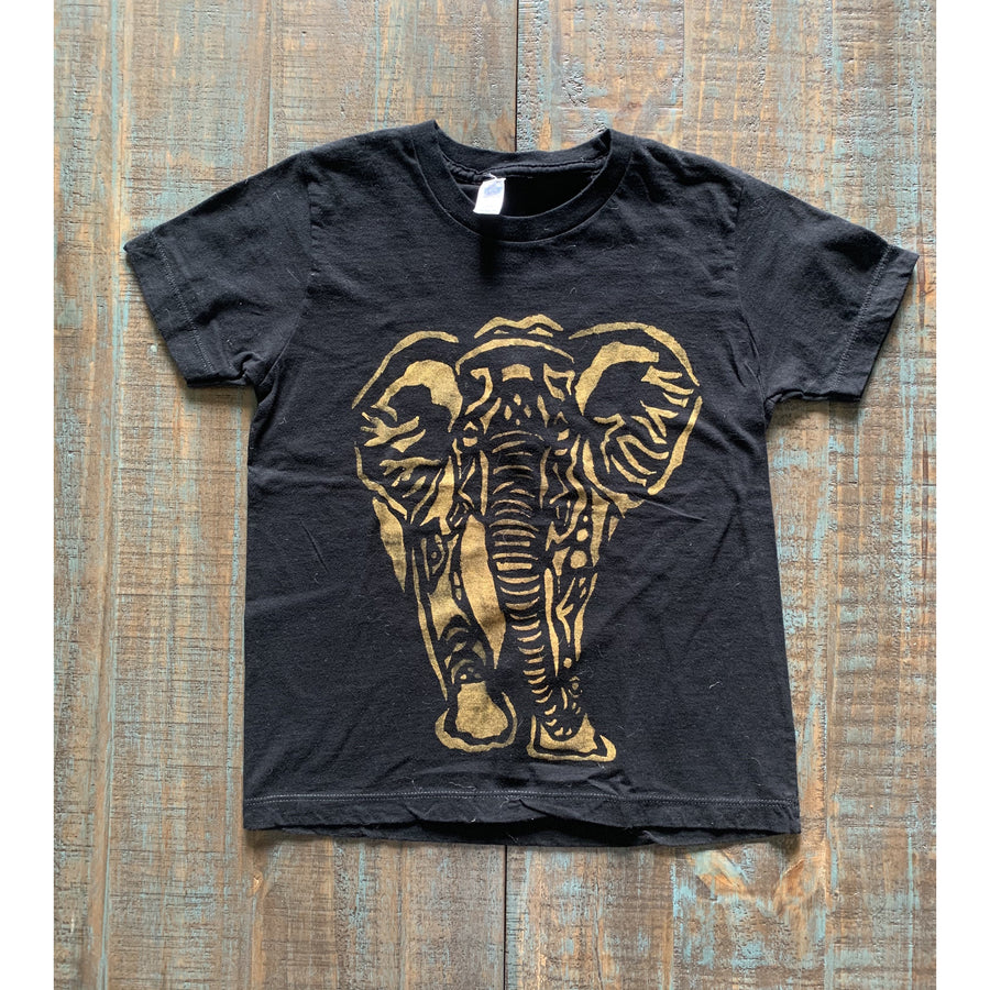 Elephant Hand Painted Organic Youth Tees