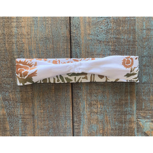 Sunflower Field Hand Painted Bamboo Headband