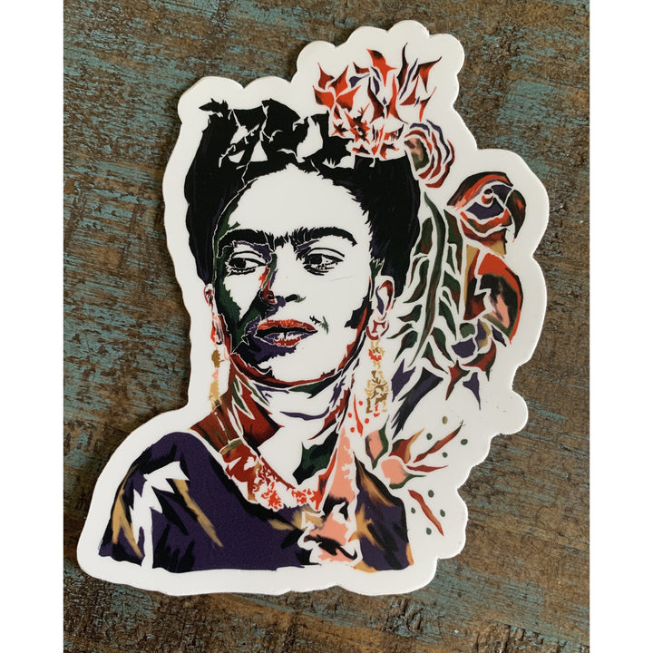 Frida Kahlo Sticker 4x4in
