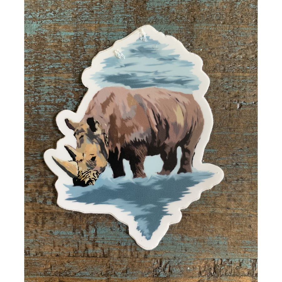 Rhino Sticker 3x3in
