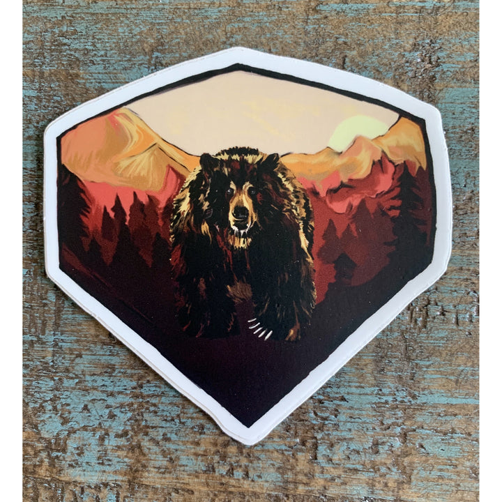 Grizzly Sticker 3x3in