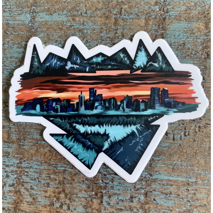 Denver Skyline Sticker 3x3in
