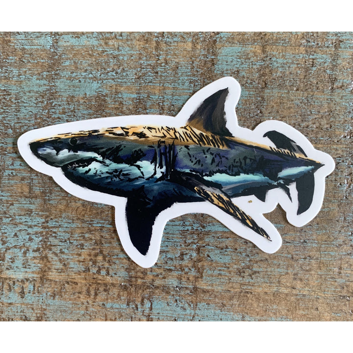 Shark Sticker 4x4in