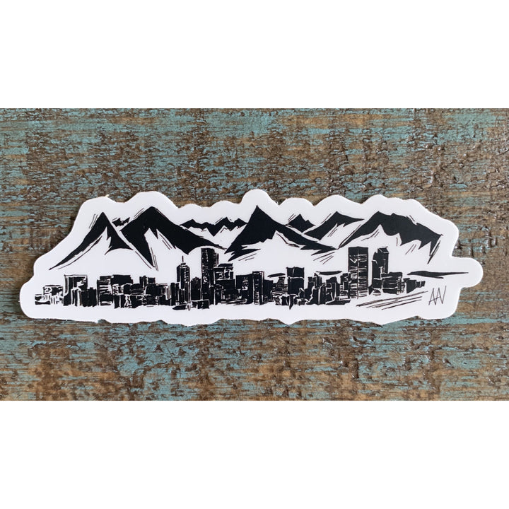 Denver Skyline Sticker 4x4in