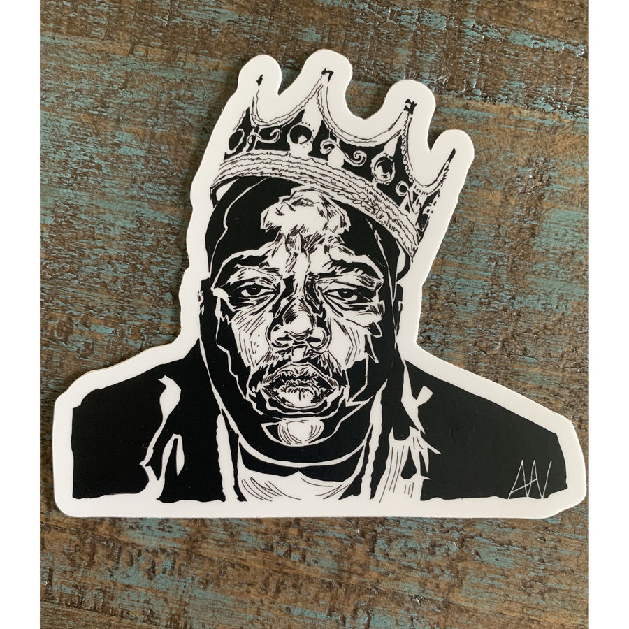 Biggie Smalls Sticker 4x4in