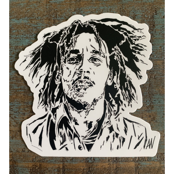 Bob Marley Sticker 4x4in