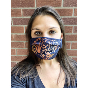 Geometric Elephant Hand Painted Bamboo Face Mask w/ Liner