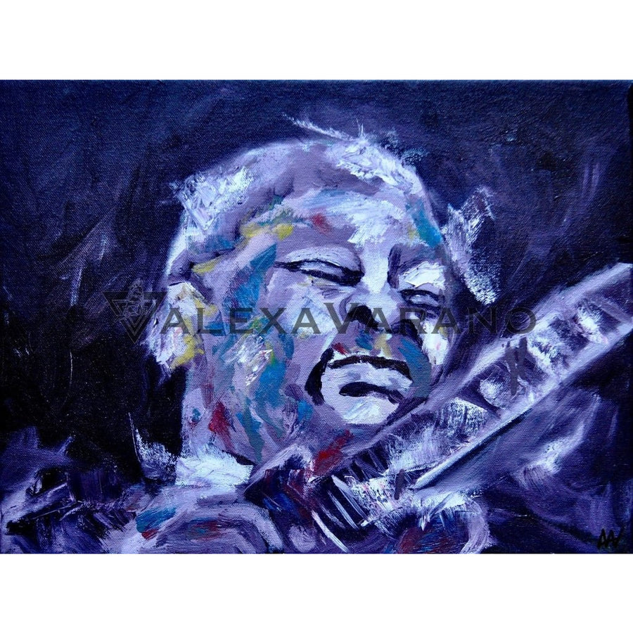 B.b. King Print Original Painting
