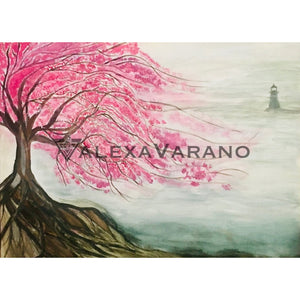 Cherry Blossom Print Original Painting