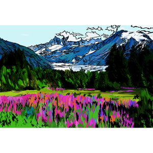 Mountain Wildflowers Print