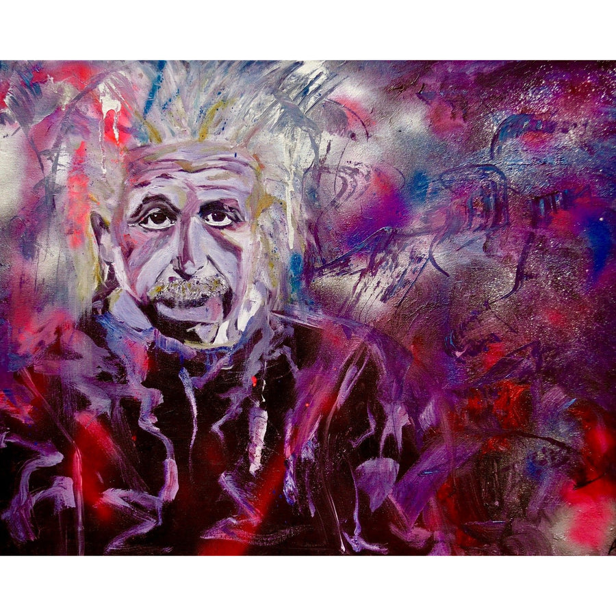 Albert Einstein Original Painting