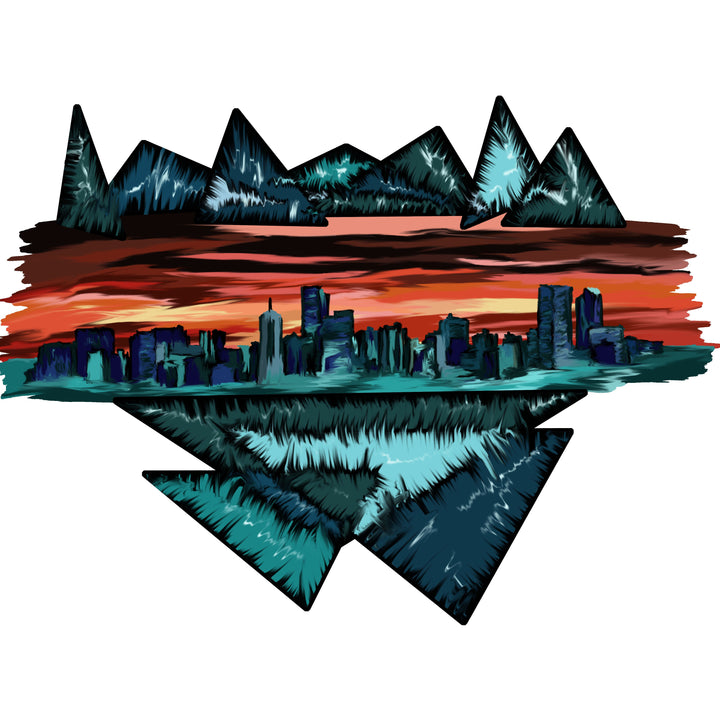 Denver Skyline Color Print