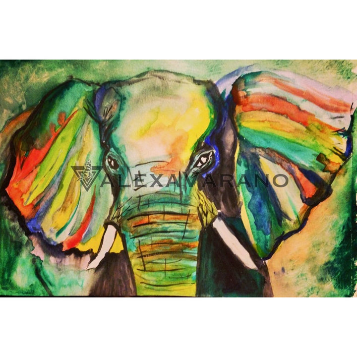 Elephant Print Original Painting