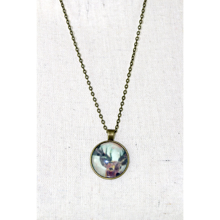 Humble Deer Print Necklace