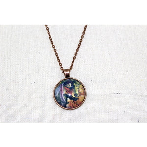 Mystic Wolf Print Necklace