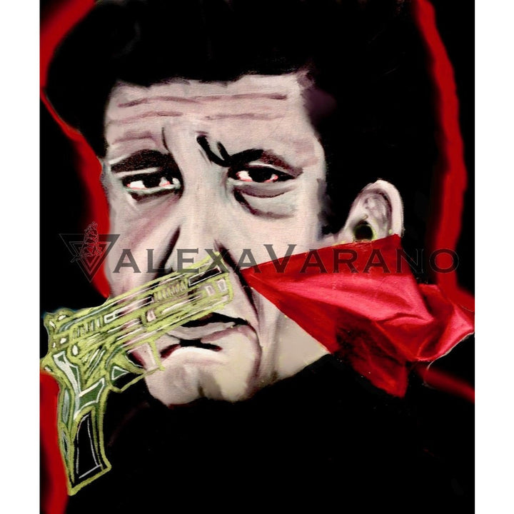 Johnny Cash Gun Print Original Painting
