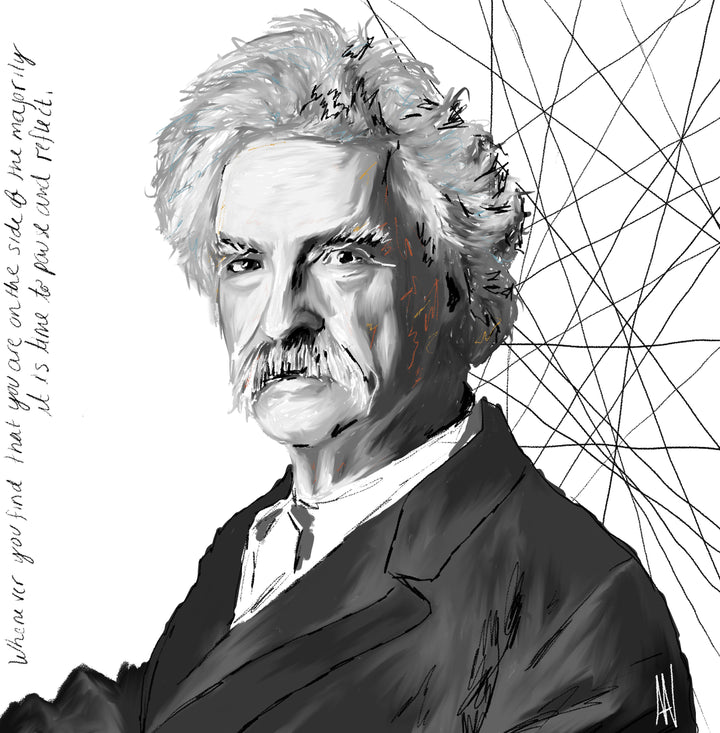 Mark Twain Archetype Print