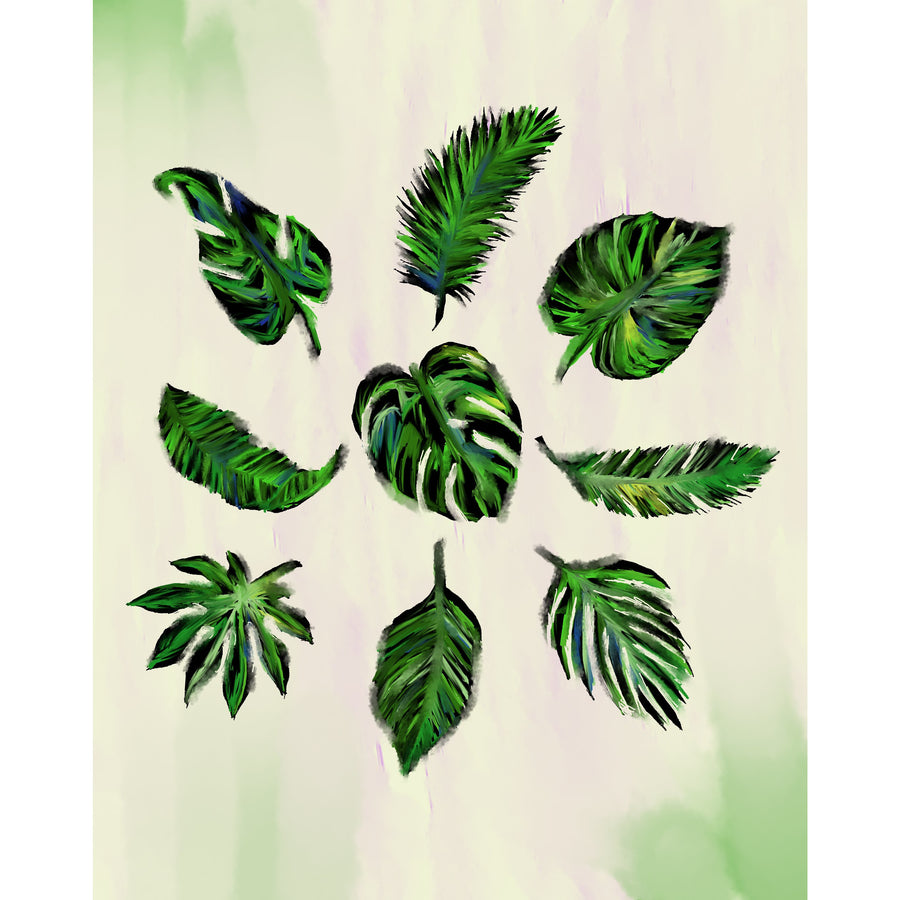 Tropical Leaves Print