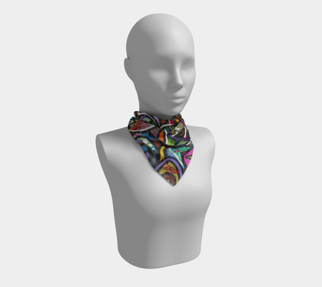 Coral Reef Square Scarf