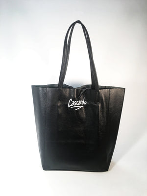Hand Painted Cascardo Tote Bag (Black)